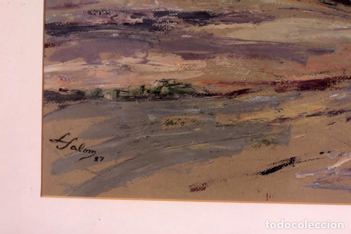 Arte: Luz SALOM (XX) Valencia. Acuarela, enmarcada 77x63cm - Foto 6 - 218576450
