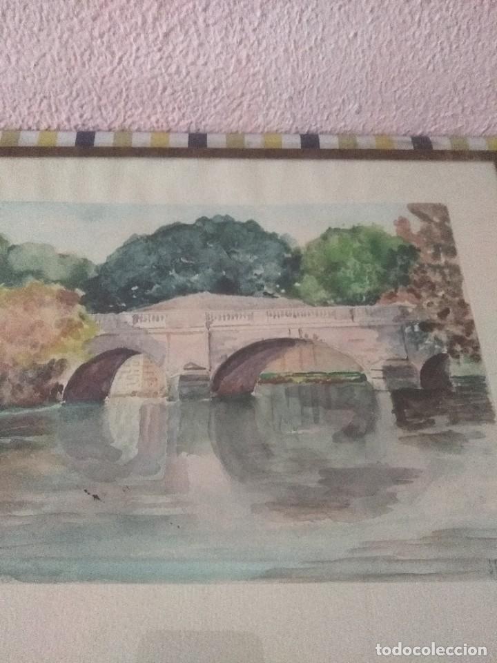 Arte: bonita acuarela o lamina francesa del 19 - Foto 4 - 51655045