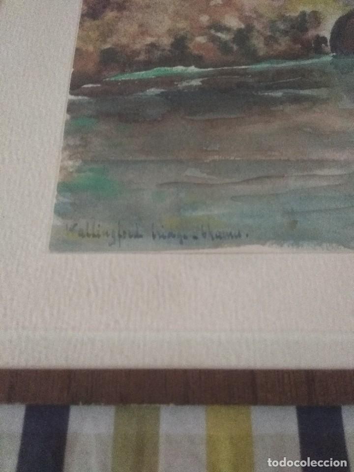 Arte: bonita acuarela o lamina francesa del 19 - Foto 5 - 51655045