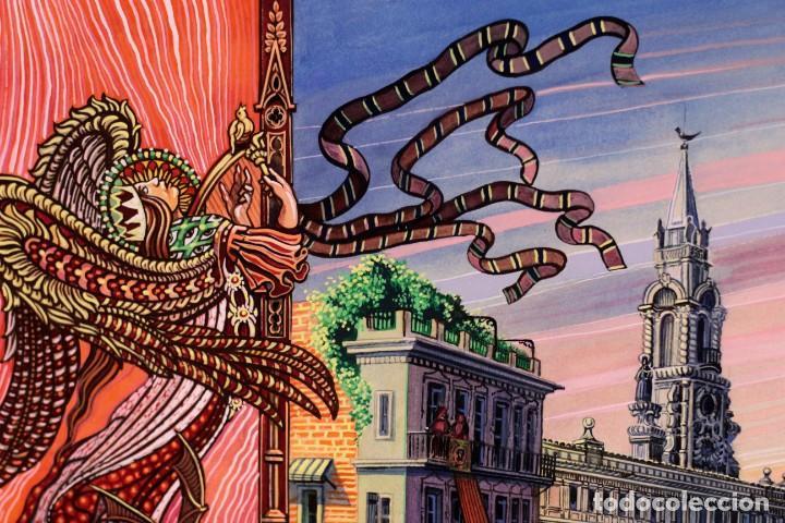 Arte: Vicente Melió Alfonso - Regne de Valencia, Llotja any 1702- Espectacular obra. Enmarcada 86x56cm - Foto 5 - 218797233