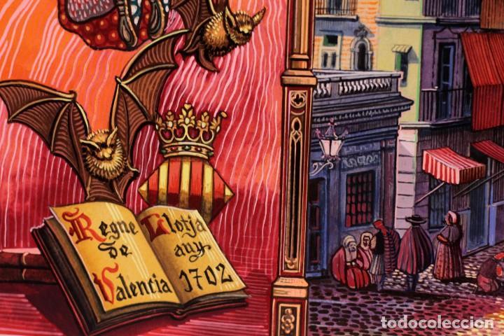 Arte: Vicente Melió Alfonso - Regne de Valencia, Llotja any 1702- Espectacular obra. Enmarcada 86x56cm - Foto 15 - 218797233