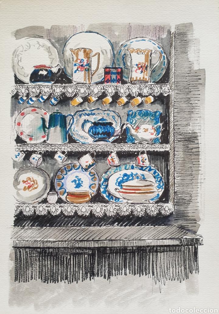 Arte: Josep Mª Vayreda Canadell (Olot, 1932-2001) - Estantes con Porcelana.Publicado.Certificado. - Foto 3 - 218803315
