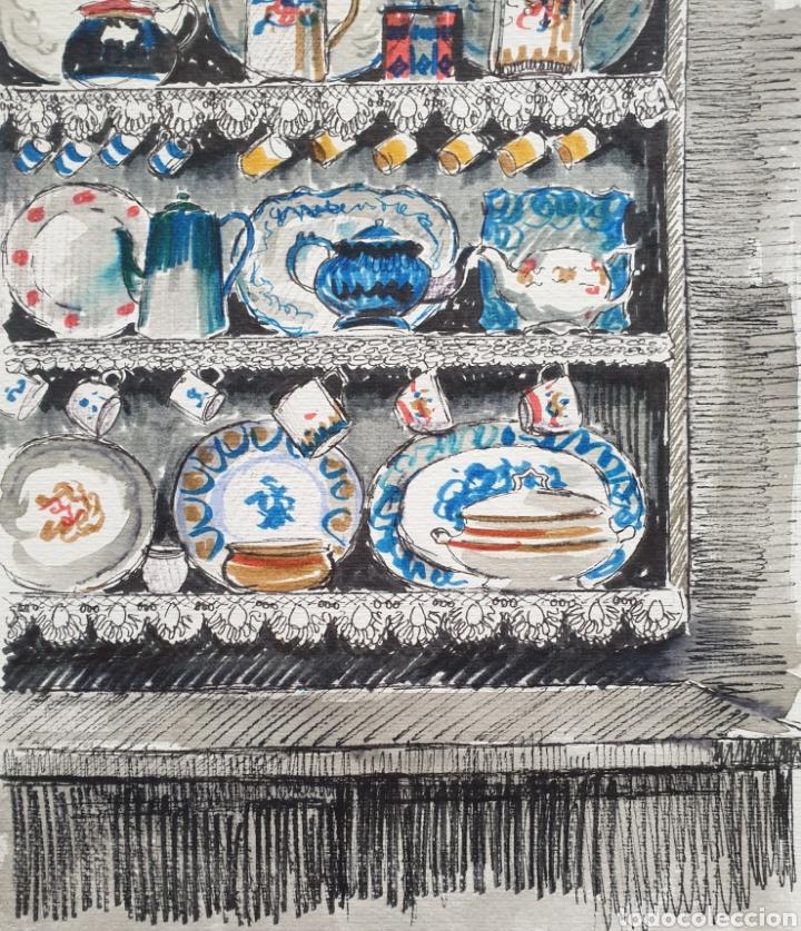 Arte: Josep Mª Vayreda Canadell (Olot, 1932-2001) - Estantes con Porcelana.Publicado.Certificado. - Foto 4 - 218803315