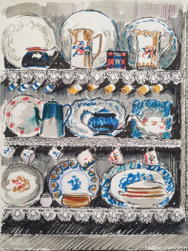 Arte: Josep Mª Vayreda Canadell (Olot, 1932-2001) - Estantes con Porcelana.Publicado.Certificado. - Foto 5 - 218803315