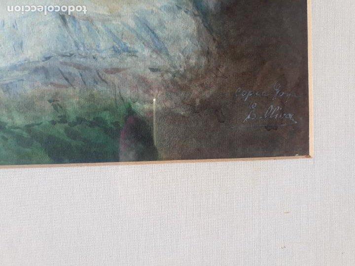 Arte: magnifica acuarela la maja vestida,copia de goya por eugenio oliva y rodrigo palencia 1852-1925 - Foto 4 - 219051200