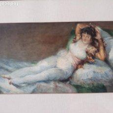 Arte: MAGNIFICA ACUARELA LA MAJA VESTIDA,COPIA DE GOYA POR EUGENIO OLIVA Y RODRIGO PALENCIA 1852-1925. Lote 219051200