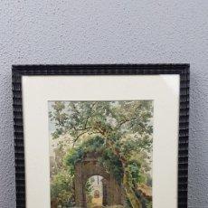 Arte: ACUARELA DE PAISAJE DE LA ARTISTA FRANCESA ALICE DE FORESTIER. SIGLO XIX. MEDIDAS: 19.5 X 27.5 CM.. Lote 219099613