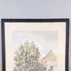 Art: ACUARELA DE PAISAJE DE LA ARTISTA FRANCESA ALICE DE FORESTIER. SIGLO XIX. MEDIDAS: 25 X 36.5 CM.. Lote 219106056