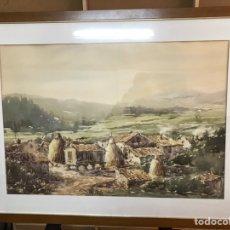 Arte: ACUARELA DE GRANDWS DIMENSIONES FIRMADA POR GÓMEZ. Lote 219159897