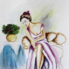 Arte: MUJER ESPERANDO OBRA DE GILABERTE. Lote 219229583