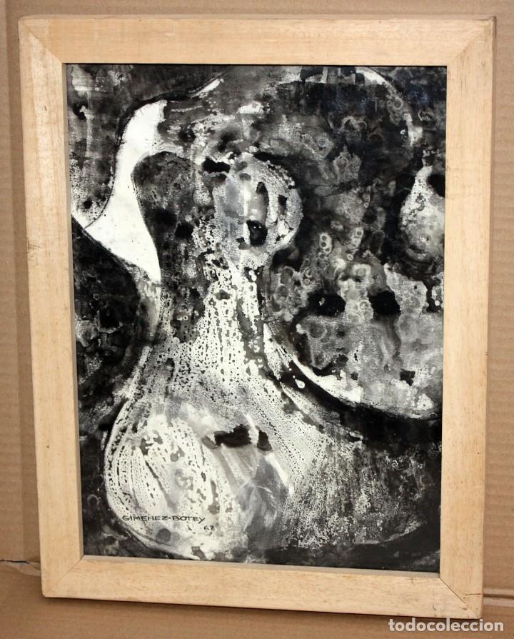 JOSE MARIA GIMENEZ-BOTEY. ACUARELA SOBRE PAPEL FIRMADA DEL AÑO 1967. ABSTRACCIÓN (Arte - Acuarelas - Contemporáneas siglo XX)