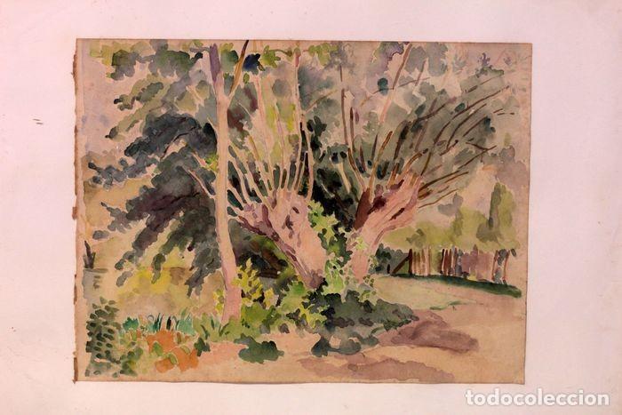 PAUL VERA (1882 - 1957) - PAYSAGE. ENMARCADO MIDE 55X49CM (Arte - Acuarelas - Contemporáneas siglo XX)