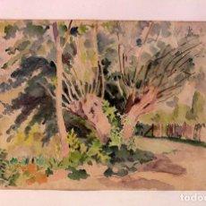 Arte: PAUL VERA (1882 - 1957) - PAYSAGE. ENMARCADO MIDE 55X49CM. Lote 219841032