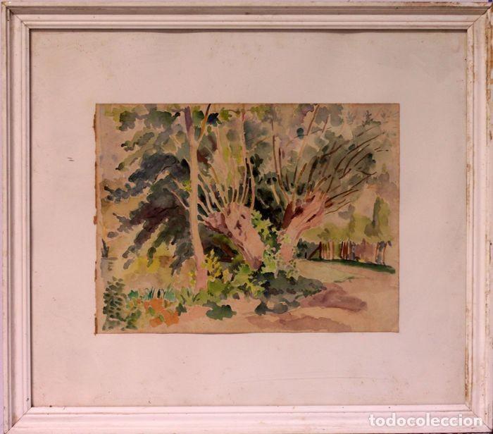 Arte: PAUL VERA (1882 - 1957) - Paysage. Enmarcado mide 55x49cm - Foto 2 - 219841032