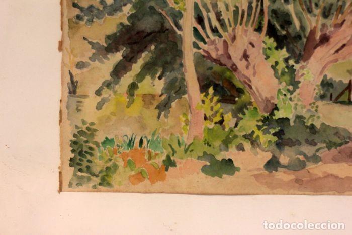 Arte: PAUL VERA (1882 - 1957) - Paysage. Enmarcado mide 55x49cm - Foto 3 - 219841032