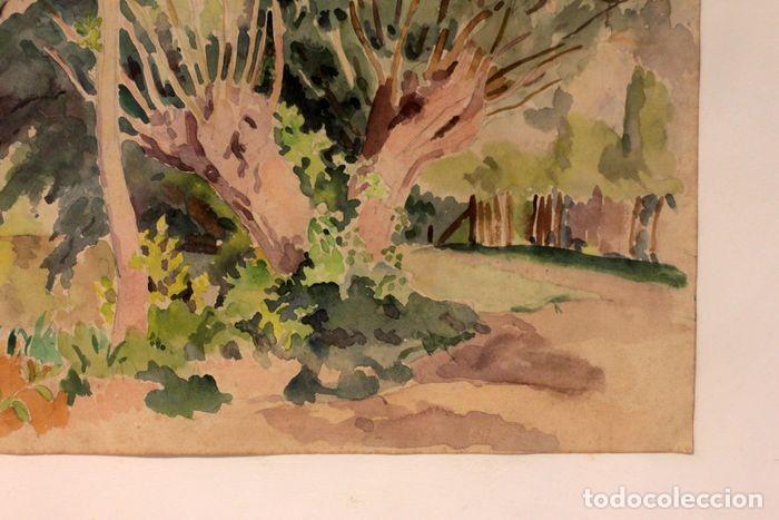 Arte: PAUL VERA (1882 - 1957) - Paysage. Enmarcado mide 55x49cm - Foto 4 - 219841032