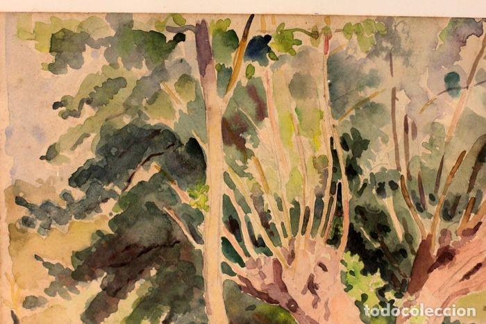 Arte: PAUL VERA (1882 - 1957) - Paysage. Enmarcado mide 55x49cm - Foto 5 - 219841032