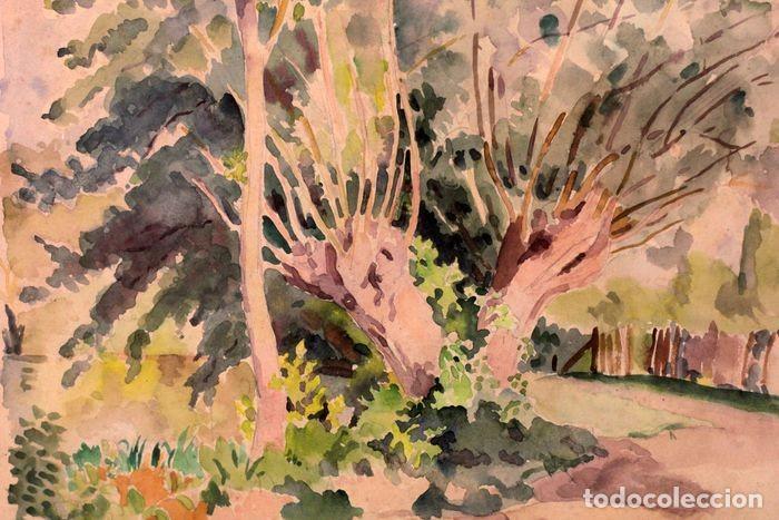 Arte: PAUL VERA (1882 - 1957) - Paysage. Enmarcado mide 55x49cm - Foto 6 - 219841032