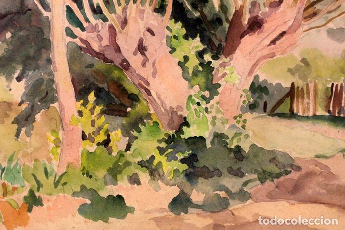 Arte: PAUL VERA (1882 - 1957) - Paysage. Enmarcado mide 55x49cm - Foto 7 - 219841032