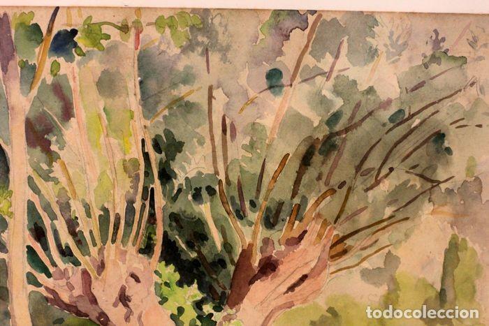 Arte: PAUL VERA (1882 - 1957) - Paysage. Enmarcado mide 55x49cm - Foto 8 - 219841032