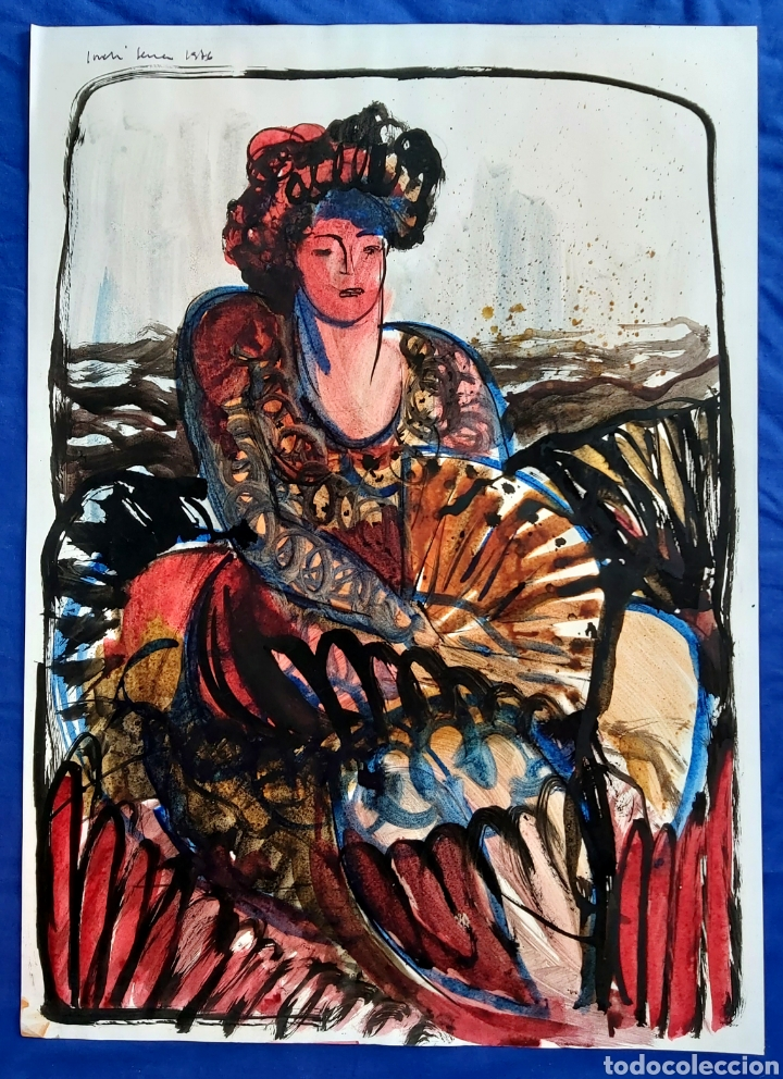 ACUARELA FIRMADA SERRA 1972 (Arte - Acuarelas - Modernas siglo XIX)