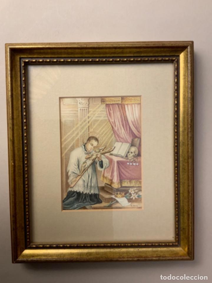 MINIATURA SAN FRANCISCO DE BORJA (S. XIX-XX) (Arte - Acuarelas - Modernas siglo XIX)