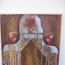 Arte: ACUARELA SOBRE TABLERO ESCUDO D'ARRA'C. Lote 220712847
