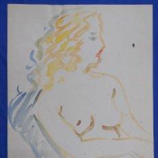 Arte: ROMÁ BONET GINÉS (SAN SEBASTIÁN 1944) ACUARELA DESNUDO FEMENINO. Lote 220792287