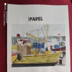 Arte: ORIGINAL ACUARELA SOBRE PAPEL CON NOMBRE DEL DIBUJANTE. Lote 220901815