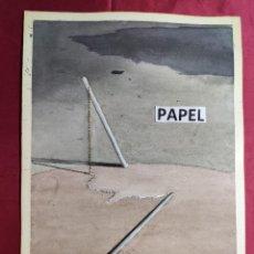 Arte: ORIGINAL ACUARELA SOBRE PAPEL. NOMBRE DIBUJANTE EN REVERSO. Lote 220902258