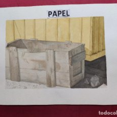 Arte: ORIGINAL ACUARELA SOBRE PAPEL.CON NOMBRE DIBUJANTE. Lote 220966890