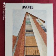 Arte: ORIGINAL ACUARELA SOBRE PAPEL.. EDIFICIO C / MAQUINISTA BARCELONETA CON NOMBRE DIBUJANTE. Lote 220967598