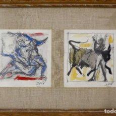 Arte: J.FÍN JOSÉ VILATÓ RUÍZ (BARCELONA 1916-PARÍS 1969) PAREJA DE DIBUJOS CON TAUROMAQUIAS. Lote 221532033