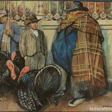 Arte: RICARD OPISSO - VENDEDORES DE PAVOS - ACUARELA. Lote 221561155
