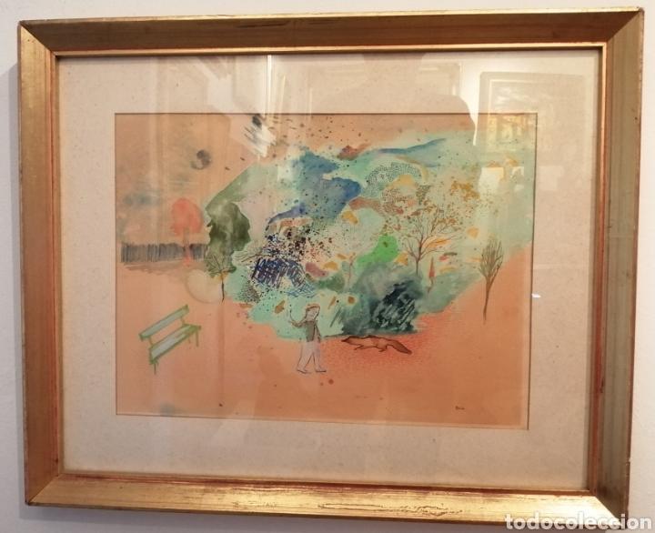 DANIELA BIKACSI. ACUARELA Y GOUACHE SOBRE CARTÓN. (Arte - Acuarelas - Contemporáneas siglo XX)