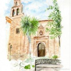 Arte: ACUARELA IGLESIA MENGÍBAR. Lote 221649243