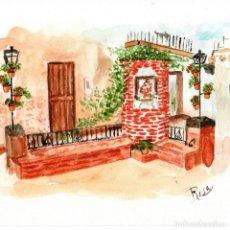 Arte: ACUARELA RICÓN DE SAN ANTONIO MENGÍBAR. Lote 221649461