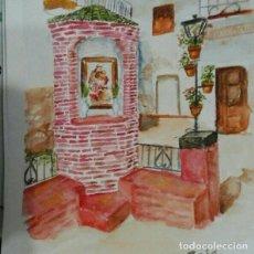 Arte: ACUARELA RICÓN DE SAN ANTONIO MENGÍBAR. Lote 221649558
