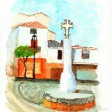 Arte: ACUARELA CRUZ DE ROLLO MENGÍBAR. Lote 221649795