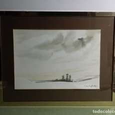 Arte: ELADIO GARCIA DE SANTIBAÑEZ ZARZAGUDA BURGOS 1936 TECNICA MIXTA PAPEL PAISAJE. Lote 221659823