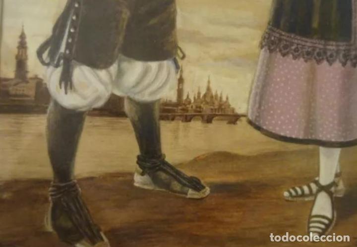 Arte: Año 1946. Acuarela firmada Chausa .Zaragoza.traje regional.aragon.pilar - Foto 4 - 221742640