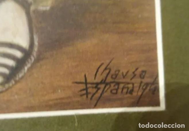 Arte: Año 1946. Acuarela firmada Chausa .Zaragoza.traje regional.aragon.pilar - Foto 2 - 221742640