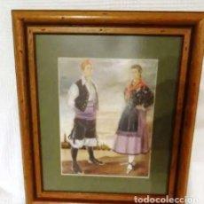 Arte: AÑO 1946. ACUARELA FIRMADA CHAUSA .ZARAGOZA.TRAJE REGIONAL.ARAGON.PILAR. Lote 221742640