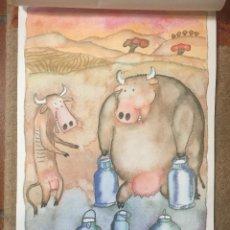 Arte: FERNANDO PUIG-ROSADO DIBUJO ACUARELA, ACUARELA/PAPEL, 35 X 25 CM. Lote 221815996