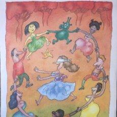 Arte: FERNANDO PUIG-ROSADO DIBUJO ACUARELA, ACUARELA/PAPEL, 35 X 25 CM. Lote 221816422
