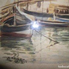 Arte: ACUARELA DE PINTOR J.ARNAU 1944. Lote 221830083