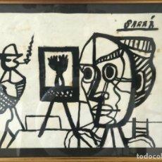 Arte: JORDI SARRA RABASCALL (VILADECANS 1935-REUS 1990) ÉPOCA PARIS. AMIGO DE DALI Y PICASSO. CUBISTA.. Lote 222195216