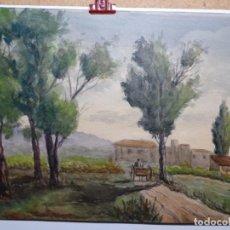 Arte: ACUARELA DE MIGUEL GALLART. ESCENA CAMPESTRE.. Lote 222719498