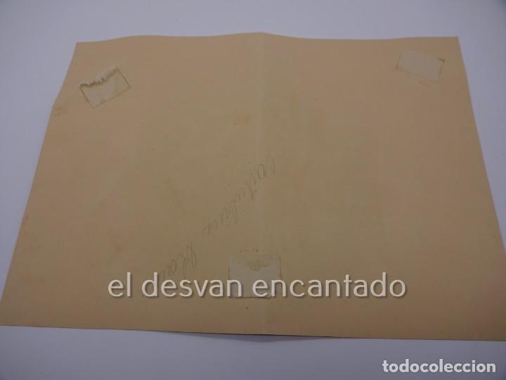 Arte: Escena galante. Dibujo acuarelado firmado Mª Rosa (Llongueres)??. Año 1951. 250 x 180 mm - Foto 4 - 222778793
