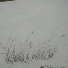 Arte: CUADRO FIRMADO ACUARELA.. Lote 222912296